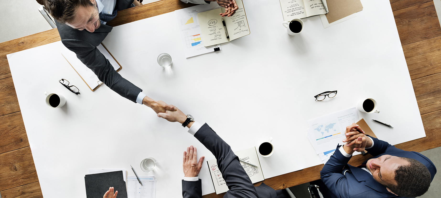 Business Team Meeting Handshake